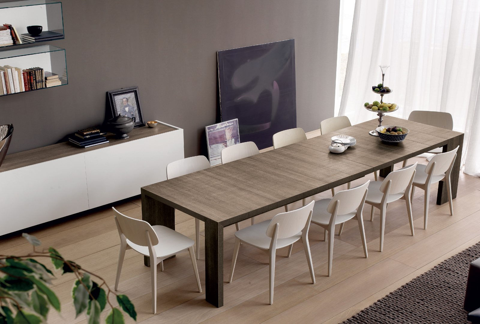 Contemporary dining tables modern dining tables for Table extensible kristalia